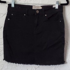 4/$30 SWS Black Denim Mini Skirt